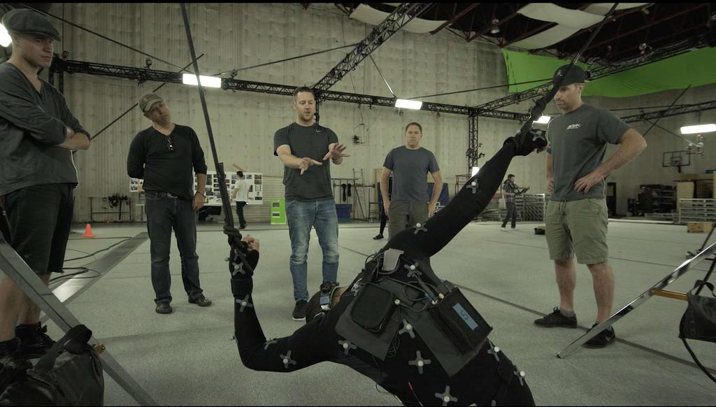 The Oats team in action at Animatrik, a motion capture studio