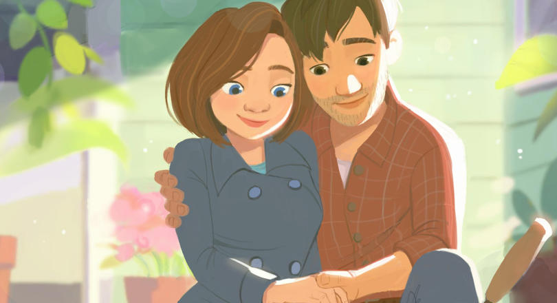 Concept art of the two main characters, Natalie and Finn, by artist Julia Blattman