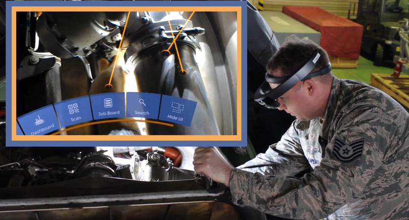 A military subject matter expert immersed in authoring a complex maintenance task