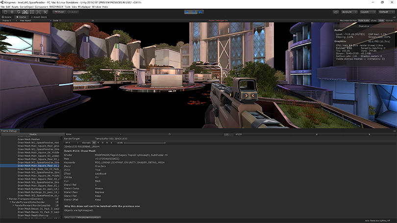 Unity in-editor level design of Shadowgun War Games