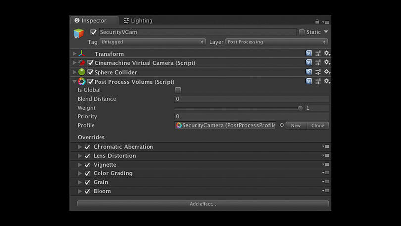 Unity-post-processing effects with Cinemachine cameras